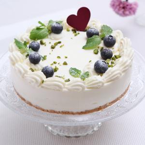 ブルーベリーとヨーグルトムースケーキ